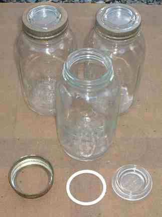 Typical Kilner Jars